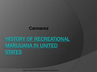 History Of Recreational Marijuana in United States