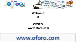 Free property classifieds to post on oforo.com