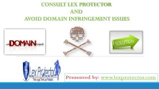 Consult Lex Protector And Avoid Domain Infringement Issues