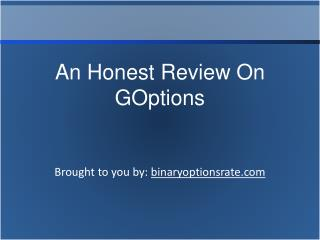 An Honest Review On GOptions