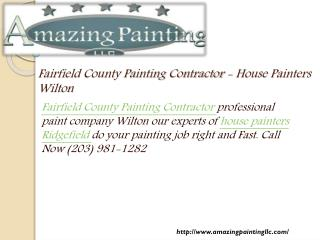 Fairfield County Painting Contractor - House Painters Wilton