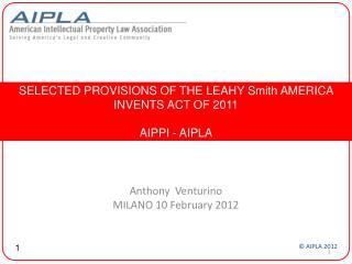 Anthony  Venturino MILANO 10 February 2012