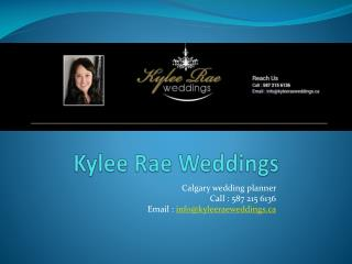 Kyleerae Wedding services offers complete wedding planning s