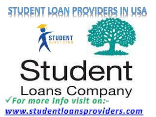 Student loan providers in USA.