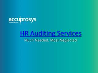 HR Auditing Services- Accuprosys