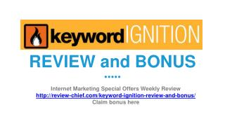 Keyword Ignition review and bonus