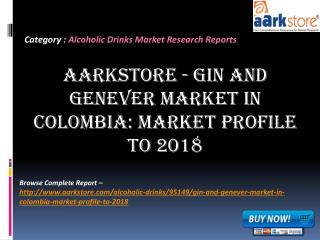 Aarkstore - Gin and Genever Market in Colombia