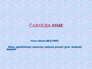 CAROLIJA RIME