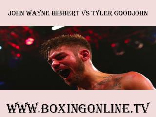 watch John Wayne Hibbert vs Tyler Goodjohn online