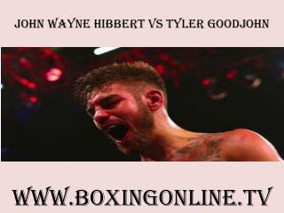 watch boxing John Wayne Hibbert vs Tyler Goodjohn