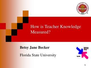 How is Teacher Knowledge Measured