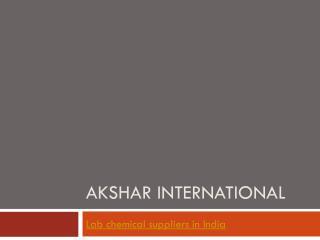 Akshar International Chemicals