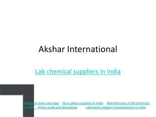 lab chemicals and analytical reagents