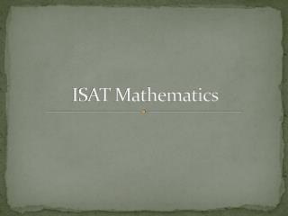 ISAT Mathematics