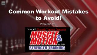 Muscle & Motion Strength Training