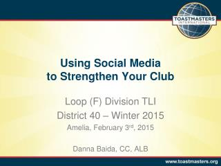Using Social Media to Strengthen Your Club