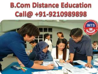 bcomdistance education