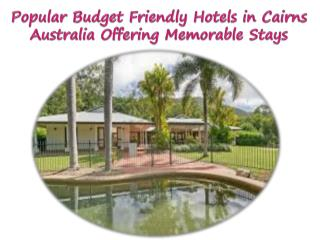 Popular Budget Friendly Hotels in Cairns Australia