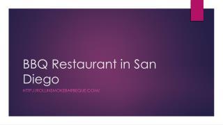 BBQ Restaurant in San Diego