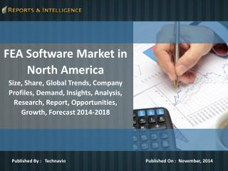 Reports and Intelligence: FEA Software Market in North Ameri