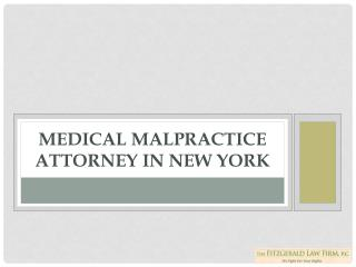 Medical malpractice attorney in New York