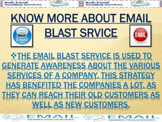 Know More About Email Blast Service