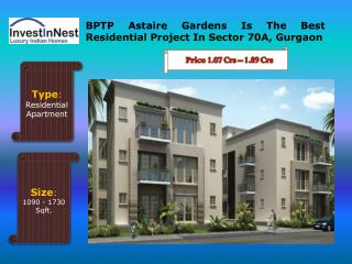 Buy Your Dream Flats In BPTP Astaire Gardens - Gurgaon