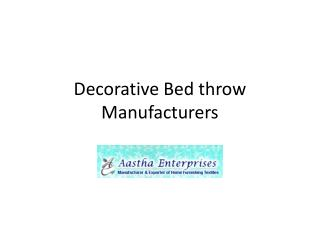 Decorative Bed Throw Manufacturers, Decorative Bed Throw Man