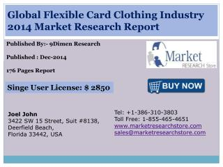 Global Flexible Card Clothing Industry 2014 Market Research