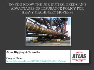 Physical Job needs and obligations for the Heavy Machinery M