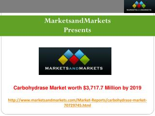 Carbohydrase Market worth $3,717.7 Million by 2019