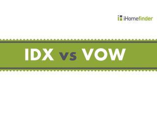 IDX vs. VOW