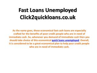 Quick Cash Loans -Click2quickloans.co.uk