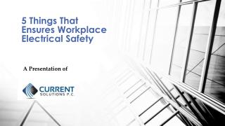 5 Things That Ensures Workplace Electrical Safety