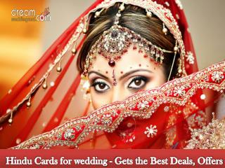 Hindu cards for wedding - Gets the best deals, offers