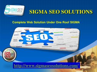 Complete Web Solution Under One Roof SIGMA
