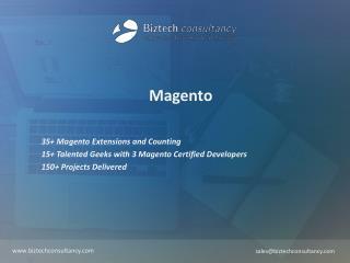 Magento Brochure - Biztech Consultancy