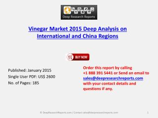 Vinegar Industry 2015 Global and China Research Report