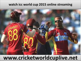 watch icc world cup 2015 stream online
