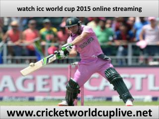 watch world cup live streaming