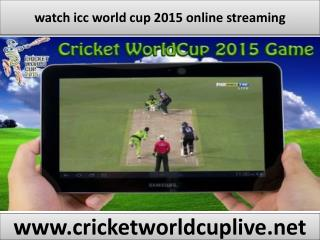 watch icc world cup live online
