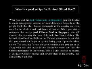 What's a good recipe for Braised Sliced Beef?