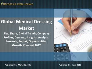 R&I: Global Medical Dressing Market - Size, Growth, Forecast