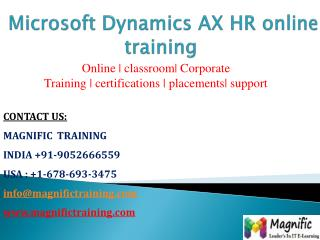 microsoft dynamics ax HR online training
