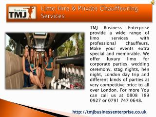 Limo Hire London At The Most Popular Parties Destination