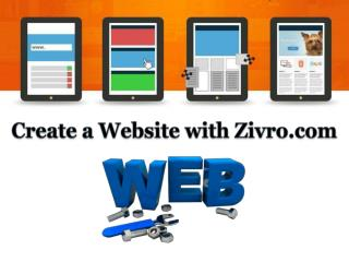 Create a Website with Zivro.com