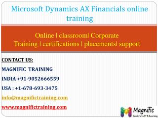 msdynamics ax financials online training in hyderabad