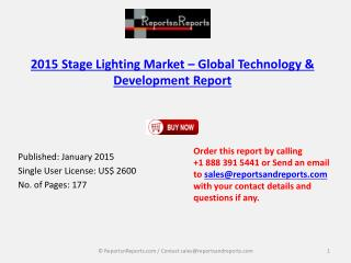 2015 Stage Lighting Market – Global Technology & Development