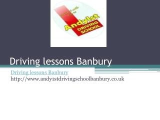 Driving lessons Banbury, Driving school Banbury