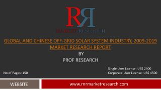 Off-Grid Solar System Market Analysis Global and China 2019